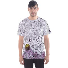 Abstract Pattern Men s Sport Mesh Tee