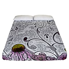 Abstract Pattern Fitted Sheet (queen Size) by Simbadda