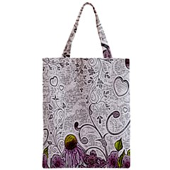 Abstract Pattern Zipper Classic Tote Bag by Simbadda