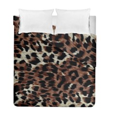 Background Fabric Animal Motifs Duvet Cover Double Side (full/ Double Size) by Simbadda