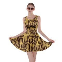 Seamless Animal Fur Pattern Skater Dress