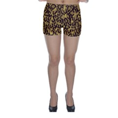 Seamless Animal Fur Pattern Skinny Shorts by Simbadda