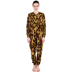 Seamless Animal Fur Pattern Onepiece Jumpsuit (ladies)  by Simbadda