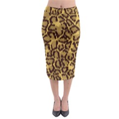 Seamless Animal Fur Pattern Midi Pencil Skirt by Simbadda