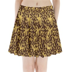 Seamless Animal Fur Pattern Pleated Mini Skirt by Simbadda