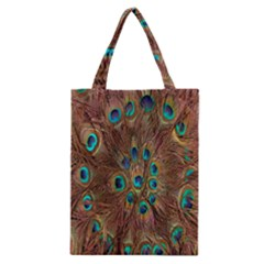 Peacock Pattern Background Classic Tote Bag by Simbadda