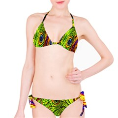 Glass Tile Peacock Feathers Bikini Set by Simbadda