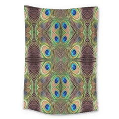 Beautiful Peacock Feathers Seamless Abstract Wallpaper Background Large Tapestry by Simbadda