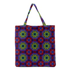 Abstract Pattern Wallpaper Grocery Tote Bag by Simbadda