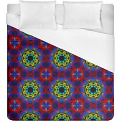 Abstract Pattern Wallpaper Duvet Cover (king Size) by Simbadda