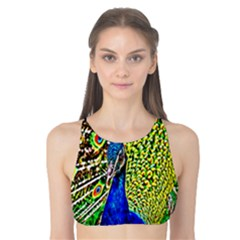Graphic Painting Of A Peacock Tank Bikini Top by Simbadda