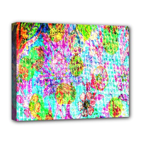 Bright Rainbow Background Deluxe Canvas 20  X 16   by Simbadda