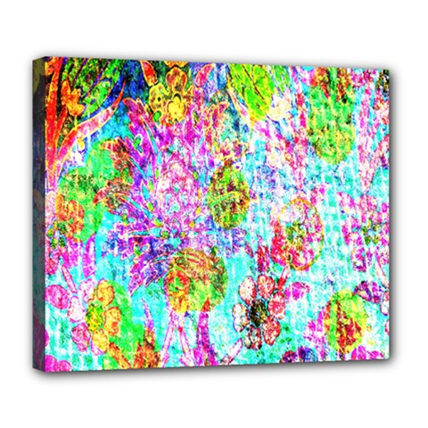 Bright Rainbow Background Deluxe Canvas 24  X 20   by Simbadda