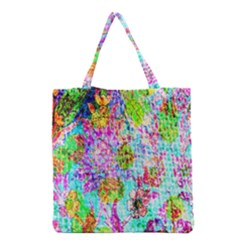 Bright Rainbow Background Grocery Tote Bag by Simbadda