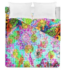 Bright Rainbow Background Duvet Cover Double Side (queen Size) by Simbadda
