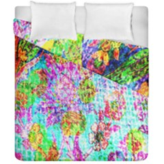 Bright Rainbow Background Duvet Cover Double Side (california King Size) by Simbadda