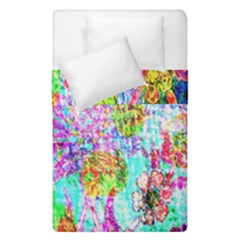 Bright Rainbow Background Duvet Cover Double Side (single Size) by Simbadda