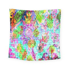 Bright Rainbow Background Square Tapestry (small) by Simbadda