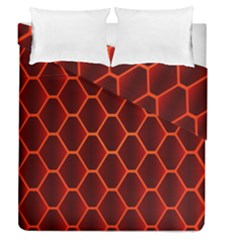 Snake Abstract Pattern Duvet Cover Double Side (queen Size) by Simbadda