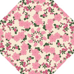 Vintage Floral Wallpaper Background In Shades Of Pink Hook Handle Umbrellas (medium)