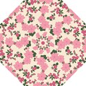 Vintage Floral Wallpaper Background In Shades Of Pink Hook Handle Umbrellas (Medium) View1