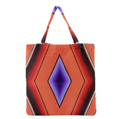 Diamond Shape Lines & Pattern Grocery Tote Bag by Simbadda