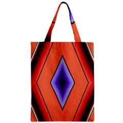 Diamond Shape Lines & Pattern Zipper Classic Tote Bag by Simbadda
