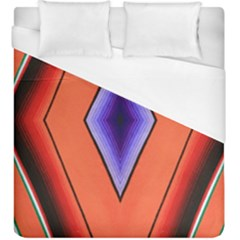 Diamond Shape Lines & Pattern Duvet Cover (king Size)