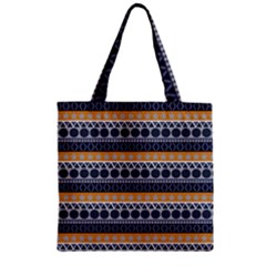 Abstract Elegant Background Pattern Zipper Grocery Tote Bag by Simbadda