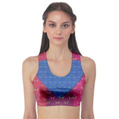 Butterfly Heart Pattern Sports Bra