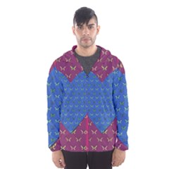 Butterfly Heart Pattern Hooded Wind Breaker (men) by Simbadda