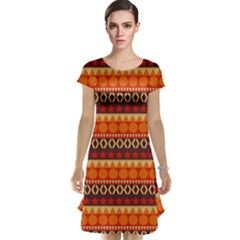 Abstract Lines Seamless Pattern Cap Sleeve Nightdress