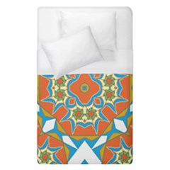 Digital Computer Graphic Geometric Kaleidoscope Duvet Cover (single Size) by Simbadda