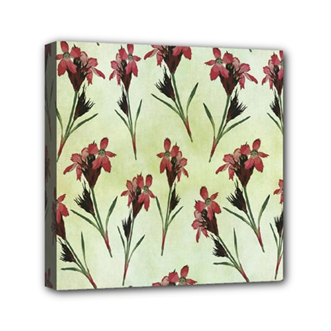 Vintage Style Seamless Floral Wallpaper Pattern Background Mini Canvas 6  X 6  by Simbadda