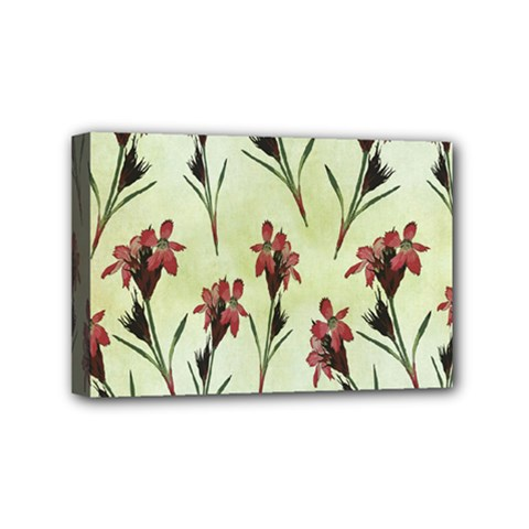 Vintage Style Seamless Floral Wallpaper Pattern Background Mini Canvas 6  X 4  by Simbadda