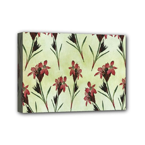 Vintage Style Seamless Floral Wallpaper Pattern Background Mini Canvas 7  X 5  by Simbadda