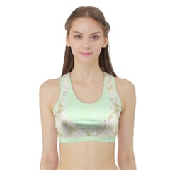 Seamless Abstract Background Pattern Sports Bra With Border