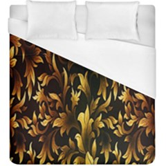 Loral Vintage Pattern Background Duvet Cover (king Size) by Simbadda