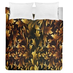 Loral Vintage Pattern Background Duvet Cover Double Side (queen Size) by Simbadda