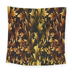Loral Vintage Pattern Background Square Tapestry (large) by Simbadda