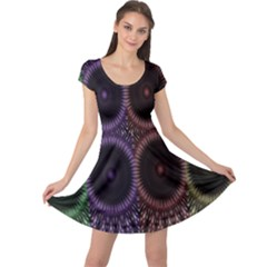 Digital Colored Ornament Computer Graphic Cap Sleeve Dresses by Simbadda