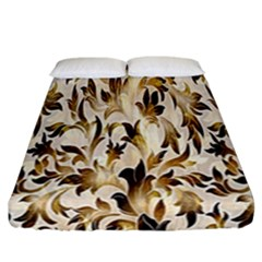 Floral Vintage Pattern Background Fitted Sheet (california King Size) by Simbadda