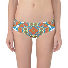 Digital Computer Graphic Geometric Kaleidoscope Classic Bikini Bottoms by Simbadda