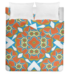 Digital Computer Graphic Geometric Kaleidoscope Duvet Cover Double Side (queen Size)