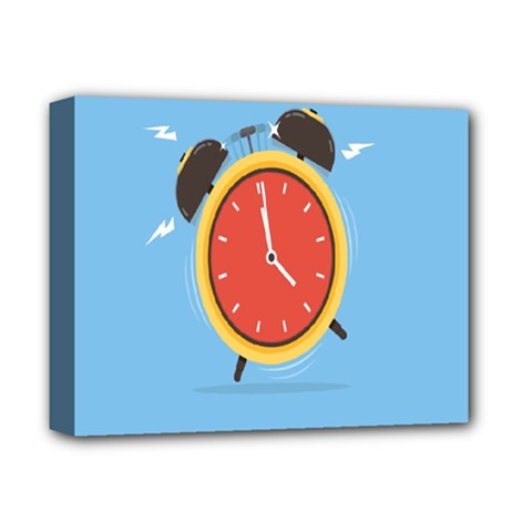 Alarm Clock Weker Time Red Blue Deluxe Canvas 14  X 11  by Alisyart