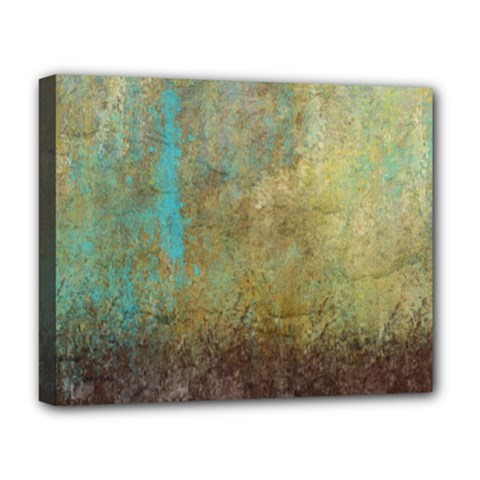 Aqua Textured Abstract Deluxe Canvas 20  X 16   by digitaldivadesigns