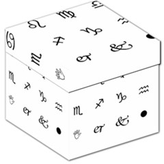 Set Of Black Web Dings On White Background Abstract Symbols Storage Stool 12   by Amaryn4rt