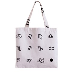 Set Of Black Web Dings On White Background Abstract Symbols Grocery Tote Bag by Amaryn4rt