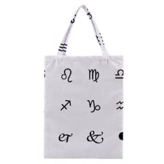 Set Of Black Web Dings On White Background Abstract Symbols Classic Tote Bag by Amaryn4rt
