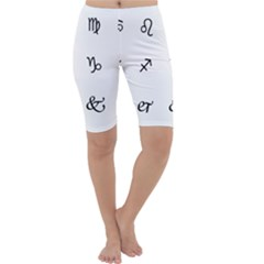 Set Of Black Web Dings On White Background Abstract Symbols Cropped Leggings  by Amaryn4rt